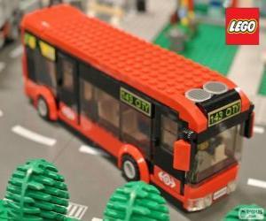 puzzel Lego urban bus