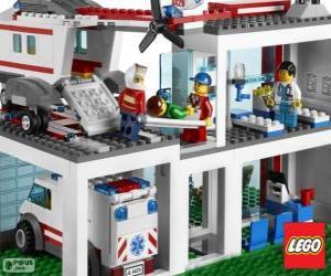 puzzel Lego ziekenhuis