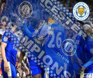 puzzel Leicester City, kampioen 2015-2016