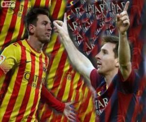 puzzel Leo Messi, topscorer in de geschiedenis van FC Barcelona