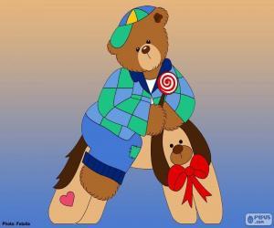 puzzel Letter A van beren