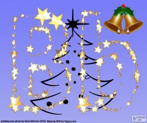 puzzel Letter B sterren