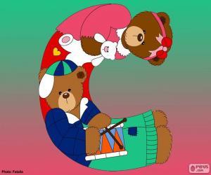 puzzel Letter C van beren