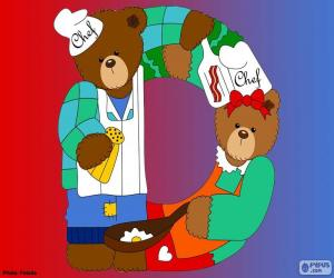 puzzel Letter D van beren