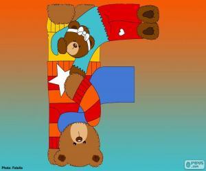 puzzel Letter F van beren