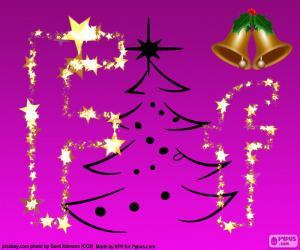 puzzel Letter F voor Kerstmis