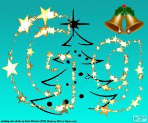puzzel Letter G een Kerst letter