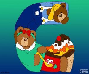 puzzel Letter G van beren