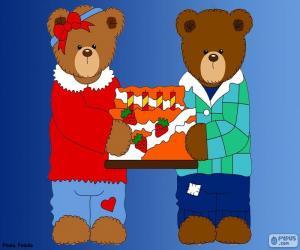 puzzel Letter H van beren