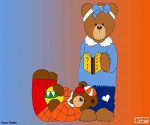 puzzel Letter J van beren