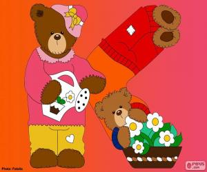 puzzel Letter K van beren