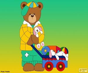 puzzel Letter L van beren