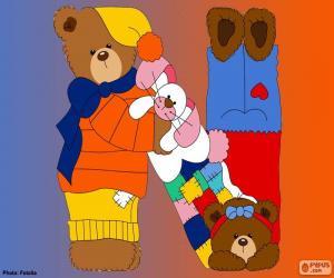 puzzel Letter N van beren