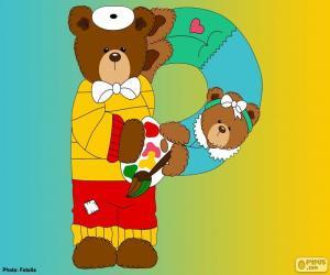 puzzel Letter P van beren