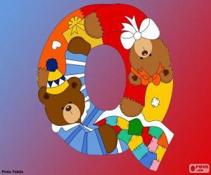 puzzel Letter Q van beren