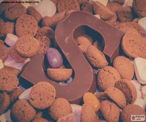 puzzel Letter S van chocolade