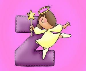 puzzel Letter Z met een engel