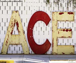 puzzel Letters A, C en E
