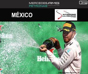 puzzel Lewis Hamilton, de Mexicaanse Grand Prix 2016