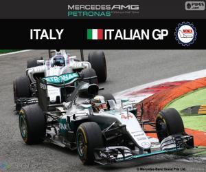 puzzel Lewis Hamilton, G.P Italië 2016