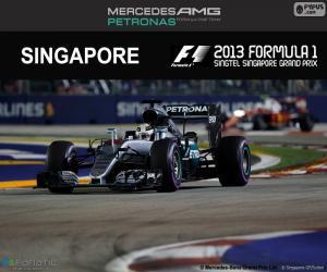 puzzel Lewis Hamilton, Grand Prix van Singapore 2016
