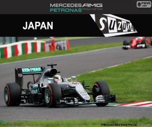 puzzel Lewis Hamilton, Grand Prix van Japan 2016