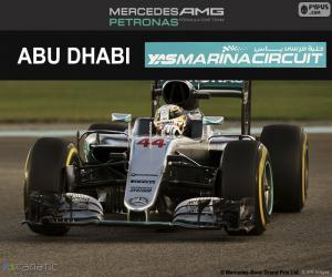 puzzel Lewis Hamilton, Grand Prix van Abu Dhabi 2016