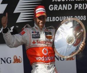 puzzel Lewis Hamilton op het podium