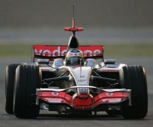 puzzel Lewis Hamilton zijn F1-loodsen
