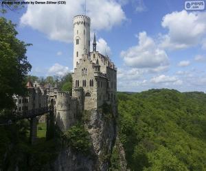 puzzel Lichtenstein kasteel, Duitsland
