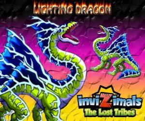 puzzel Lightning Dragon. Invizimals The Lost Tribes. Dit Dragon invizimal domineert de kracht van bliksem en donder