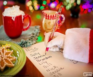 puzzel Lijst van de Kerstman