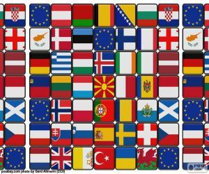 puzzel Lijst van vlaggen van Europa