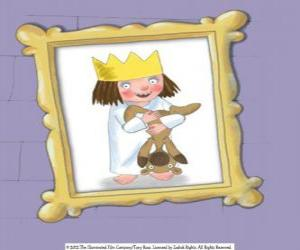 puzzel Little Princess, kleine prinses en haar teddybeer