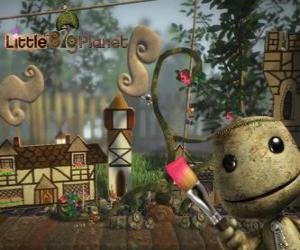puzzel LittleBigPlanet, videogame waarin de karakters zijn poppen genaamd Sackboys of Sackgirls