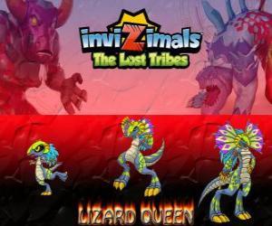 puzzel Lizard Queen, laatste evolutie. Invizimals The Lost Tribes. De koningin van reptielen is mooi en verstandig