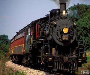 puzzel Locomotief van een stoomtrein