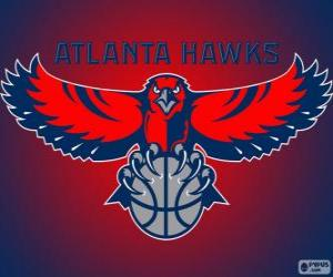 puzzel Logo Atlanta Hawks, NBA-team. Southeast Division, Eastern Conference