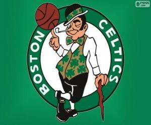 puzzel Logo Boston Celtics, NBA-team. Atlantic Division, Eastern Conference