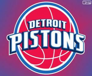 puzzel Logo Detroit Pistons, NBA-team. Central Division, Eastern Conference
