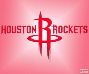 puzzel Logo Houston Rockets, NBA-team. Southwest Division, Western Conference