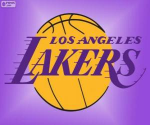 puzzel Logo Los Angeles Lakers, NBA-team, Pacific Division, Western Conference