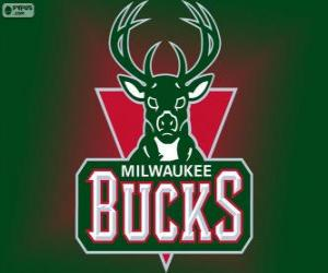 puzzel Logo Milwaukee Bucks, NBA-team. Central Division, Eastern Conference