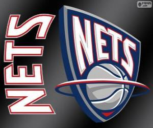 puzzel Logo New Jersey Nets, NBA-team. Atlantic Division, Eastern Conference