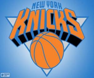 puzzel Logo New York Knicks, NBA-team. Atlantic Division, Eastern Conference