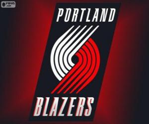 puzzel Logo Portland Trail Blazers, NBA-team. Northwest Division, Western Conference