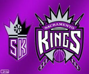 puzzel Logo Sacramento Kings, NBA-team. Pacific Division, Western Conference