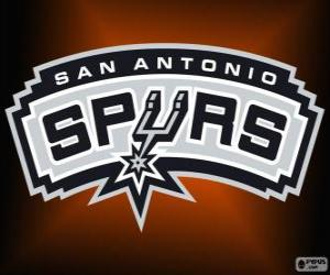 puzzel Logo San Antonio Spurs, NBA-team. Southwest Division, Western Conference