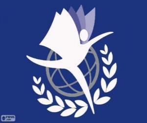 puzzel Logo UNITAR, VN-Instituut voor Opleiding en Onderzoek
