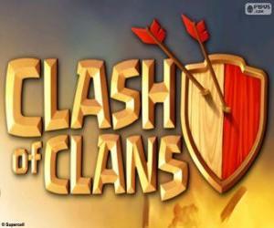 puzzel Logo van Clash of Clans